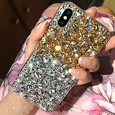 ikasus Case for iPhone Xs Max,iPhone Xs Max Diamond Case,3D Handmade Bling Rhinestone Diamonds Luxury Sparkle Rhinestones Case Girls Women Full Crystals Bling Diamond Case Cover for iPhone Xs Max,Pink
