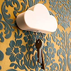 2 Pcs New Qualified Creative Novelty Home Storage Holder White Cloud Shape Magnetic Magnets Key Holder Levert Dropship dig638 #Color White