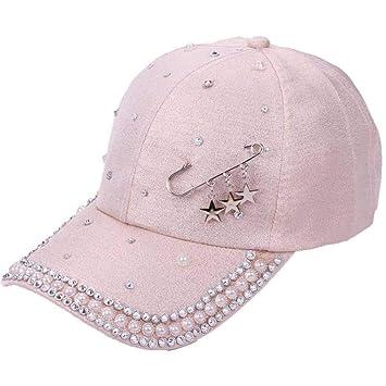 YEmaozi Sombrero de Mujer Gorro de Perla Diseño Personalizado ...