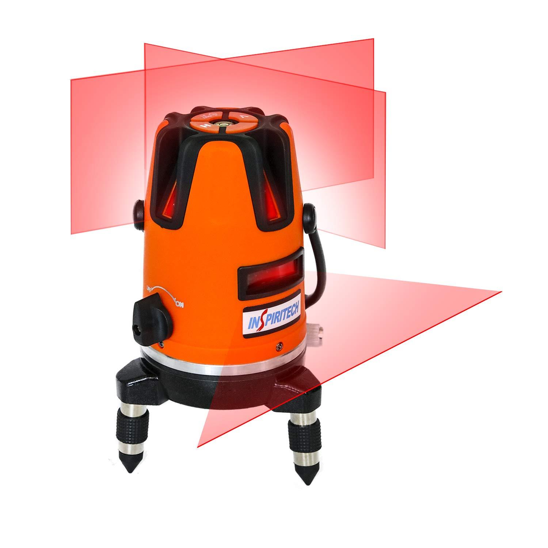 Self Leveling Laser Level Red Beam Horizontal Vertical Cross Line Laser 360 Degree Rotary Tilt Mode Carrying Case Included