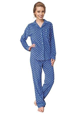 purchase cheap 66b9c 8e075 Key Premium Damen Schlafanzug geknöpft 2-teiliges Pyjama Set ...