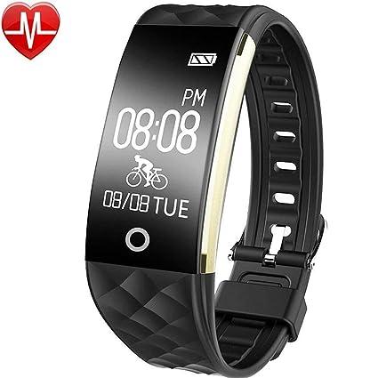 GanRiver® - Pulsera de actividad fitness con Bluetooth, pulsómetro, reloj de