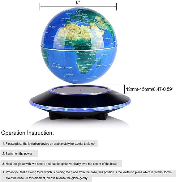 Color : A, Size : 6cm WANGIRL Mondo Sfera di Cristallo Globo Terrestre Rotondo Mappa del Mondo Sfera di Cristallo Galassia Sfera Home Office Decor Regalo Cristalli di Quarzo Magico con Base Globo