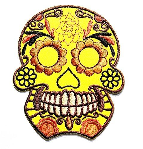 HHO Yellow Sunflower Flower Sugar Skull Day of