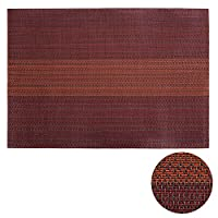 Deconovo PVC Placemats Heat-resistant Placemats Washable Table Mats Placemats Splice Insulation Mats Red Orange and Chocolate