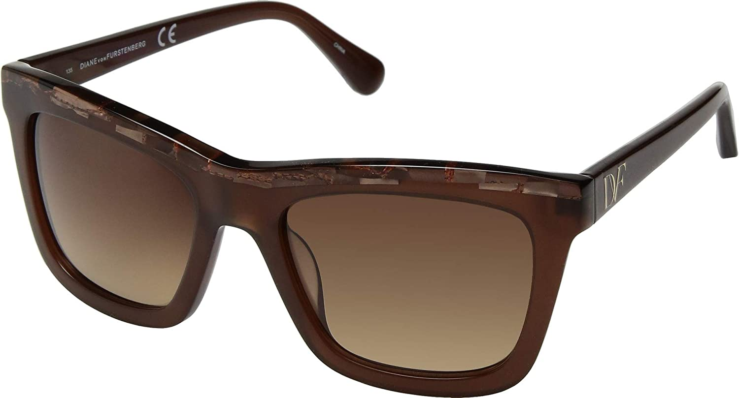 Amazon.com: Diane von Furstenberg Womens Tessa Brown One ...
