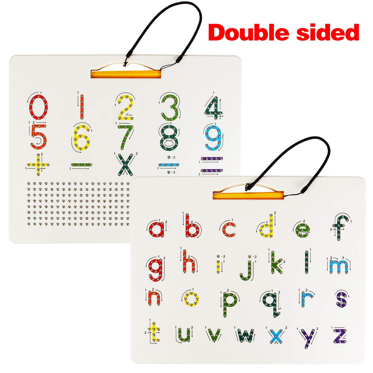 Toys & Games Learning & Education Double-Sided Alphabet Letter and ...