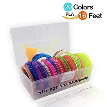 Lápiz 3d Filamento 1.75mm PLA Kit de Caja de Almacenamiento ...