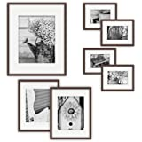 7 pc Wall Kit Walnut (4-6x8 matted to 4x6, 2-8x10 matted to 5x7 & 1-12x16 matted to 8x10 & 8x12)