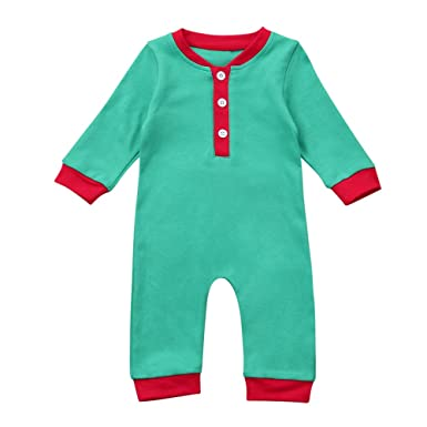 de48db034 Infant Baby Toddler Boy Girl Christmas Jumpsuit Outfits Clothes Long Sleeve  Overalls Coveralls Rompers 6-