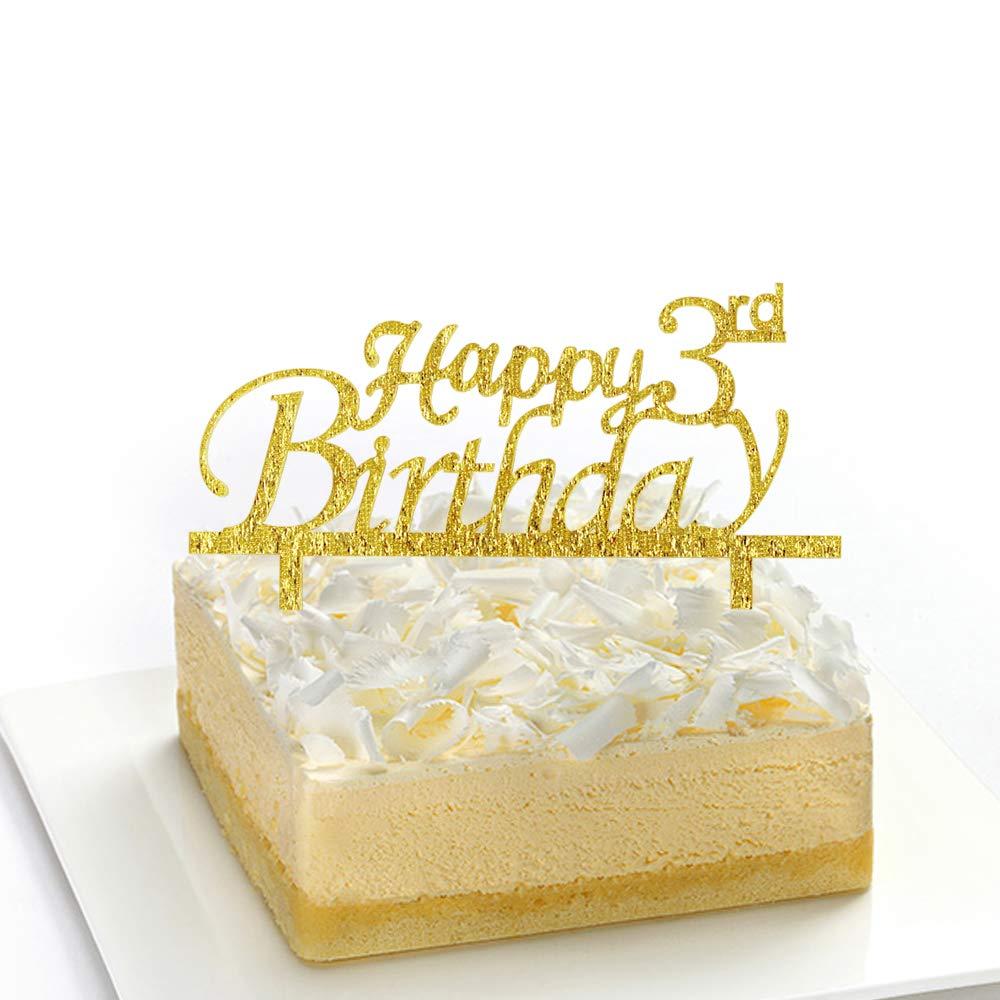 Surprising Amazon Com Happy 3Rd Birthday Cake Topper 3Rd Birthday Cake Funny Birthday Cards Online Alyptdamsfinfo