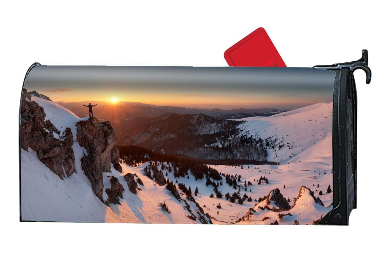 XPNiao Winter Mountain Magnetic Mailbox Cover - Fairy Garden Accessories by XPNiao
