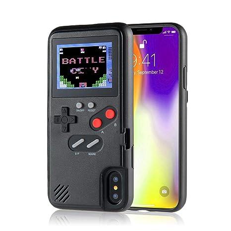 LayOPO Game Funda para iPhone, Funda para iPhone Consola de Juegos con 36 Juegos Pequeños, Pantalla a Color, Diseñ para iPhone XS/X, IPhone8 / 8 Plus, ...