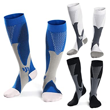 026f37ac0a Compression Socks for Men(15-25 mmHg) Athletic Fit for Running,Basketball