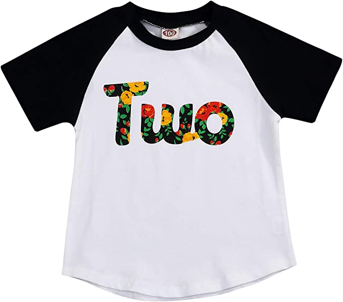 Amazon.com: Camiseta de cumpleaños para niños y niñas de dos ...