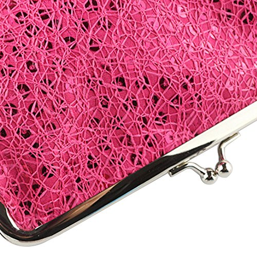 Sequins Bling Bag Party Handbag Pink Clutch Sparkling Rose Evening Red Dazzling Glitter wtq8EA0