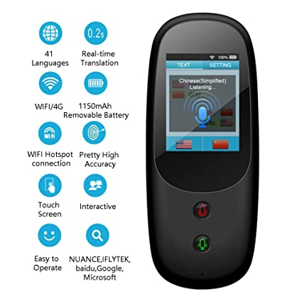 Upgrade WiFi 4G Multi-Language Two-Way Real-Time Translator
