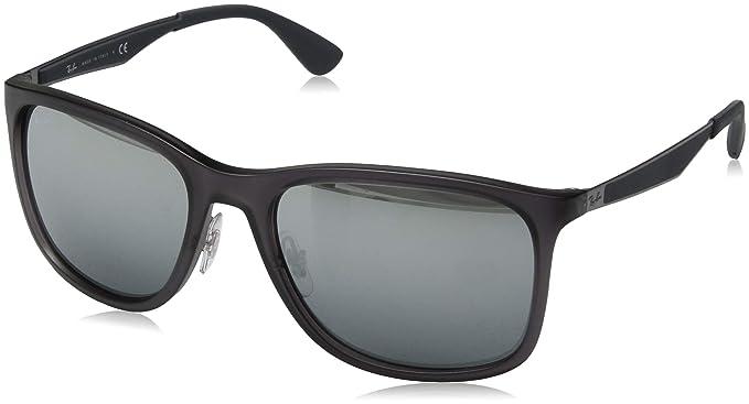 Ray-Ban 0RB4313 Gafas de sol, Matte Transparente Grey, 57 ...