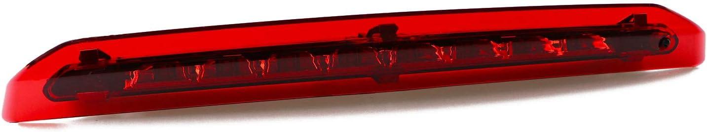 for 2013-2018 Ford Escape LED Bar 3rd Third Tail Brake Light Rear Lamp High Mount Stop light Chrome Housing Red Lens