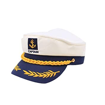 Fancy Dress White Adult Yacht Boat Captain Hat Navy Cap Sailor Costume Hat FI