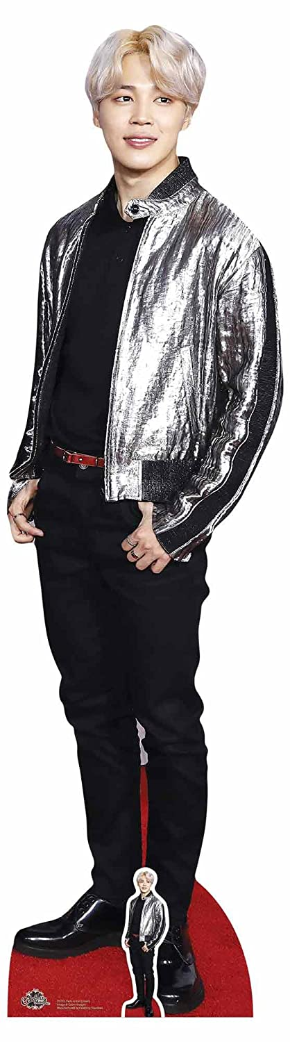 Star Cutouts CS751 Park ji-min argento giacca Bangtan Boys life-size cartone cut-out, multicolore Star Cutouts Ltd
