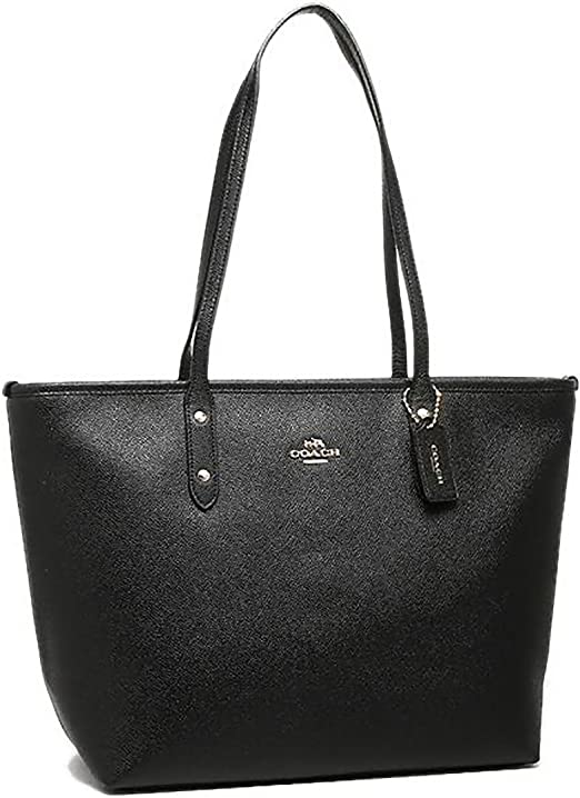 Coach F58846 Crossgrain Leather City Zip Tote /& Wallet In Light Saddle