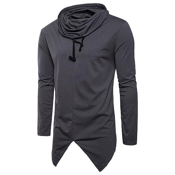 OHQ_Camisa Hombre Blusa OtoñO Moda 2018 Puro Color Manga Larga con Mangas Sudaderas Top Blusa Pantalones Ropa Interior Chaleco Tapas Camisas Polo Tops: ...