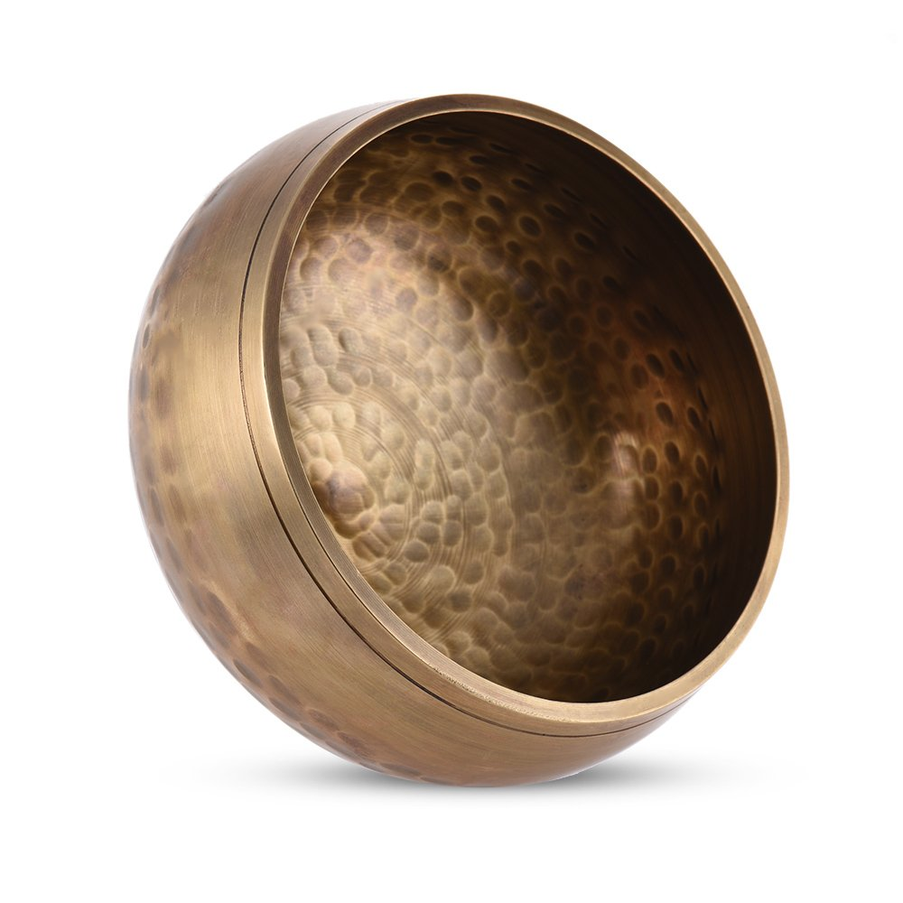Walmeck Handmade Tibetan Bell Metal Singing Bowl with Striker 9.5cm 3.7in Caliber for Buddhism Buddhist Meditation Prayer Yoga Healing Relaxation