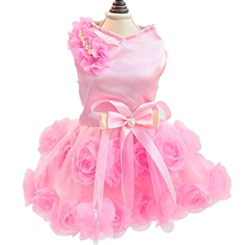 Buy Bbx Deals Doggy Pet Dog Clothes Party Summer Dress Rose Wedding