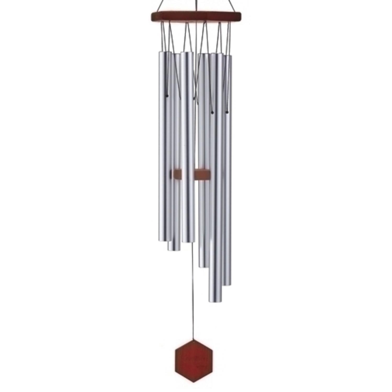 53'' Carillon Sunset Hand-Tuned Triple Sealed Elm Wood Diamond Line Wind Chime by Roman