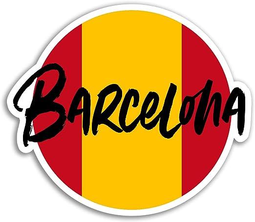2 x 10 cm pegatinas de vinilo en Barcelona - España Viaje etiqueta ...
