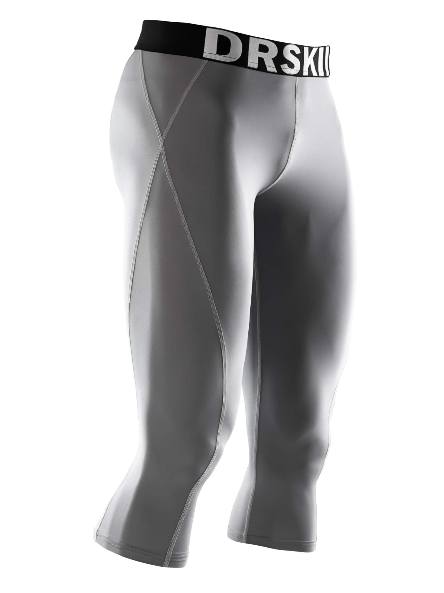 DRSKIN] Tight 3/4 Compression Pants Base Layer Running Pants Men (M, GG804) by DRSKIN