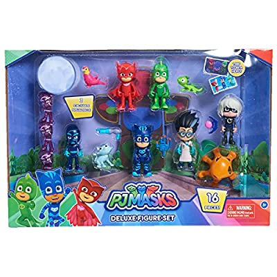 Just Play PJ Masks Deluxe 16-Piece Figure Set: Toys & Games