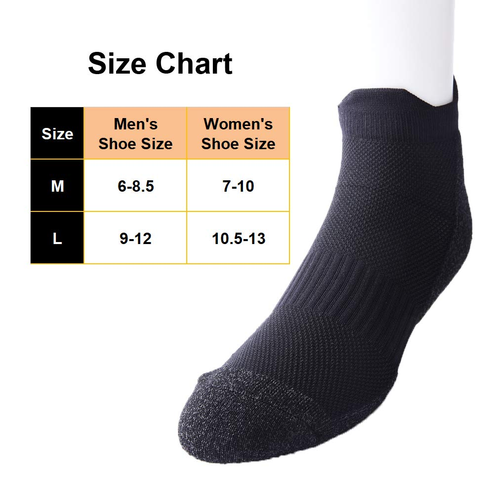 Toes/&Feet Mens Anti Odor Quick-Dry Cushion Low-Cut Compression Running Socks