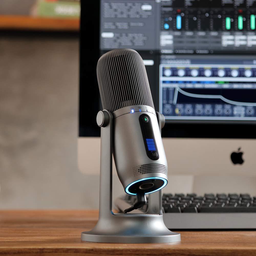 Thronmax MDRILL One Microphone /à condensateur USB pour diffusion et enregistrement de qualit/é professionnelle avec contr/ôle studio et 4 modes d/édi/és Gris