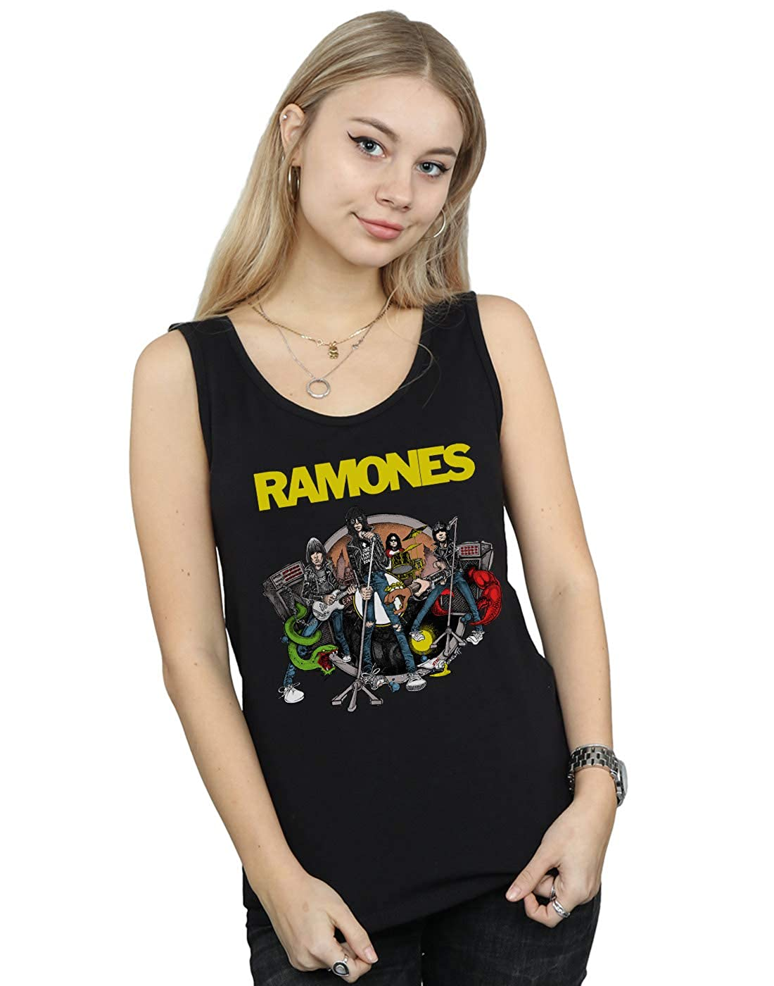 Absolute Cult Ramones Womens Road to Ruin Tank Top
