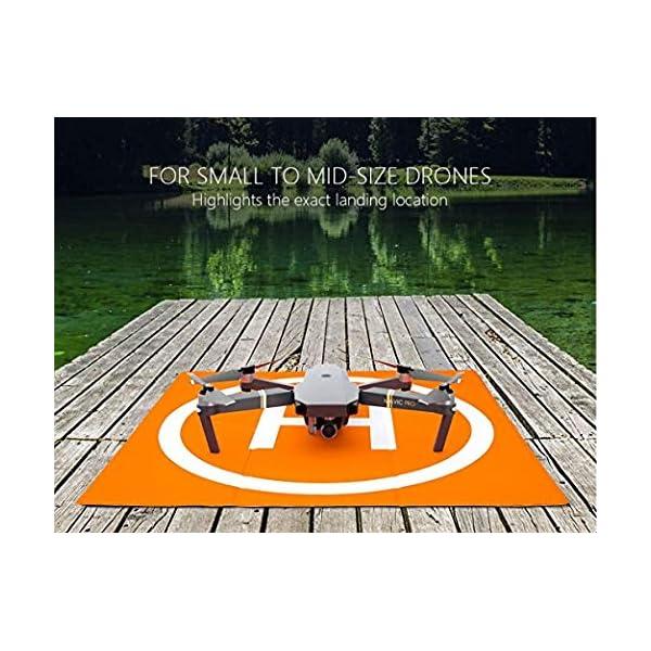 Changlesu RC Drone Landing Pad impermeabile PU portatile pieghevole tappetino di atterraggio per DJI Mavic Air/Mavic Pro/Spark, con borsa per il trasporto, design a doppia faccia 3 spesavip
