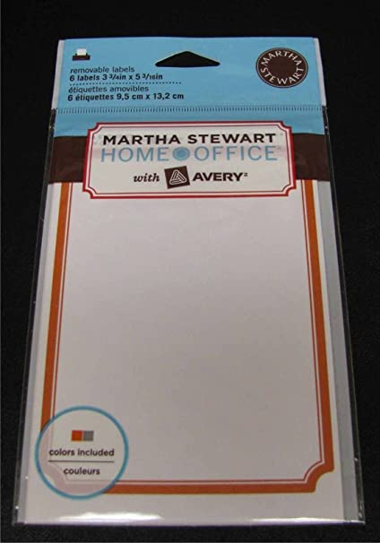 amazon com martha stewart home office with avery removable labels