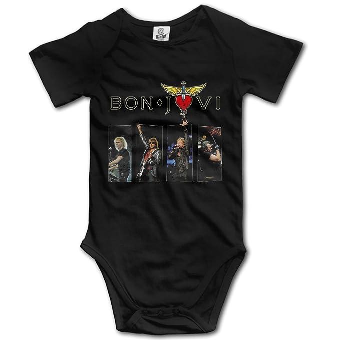 Bon Jovi Logo Unisex para bebé Pelele Body Mono trajes: Amazon.es: Ropa y accesorios