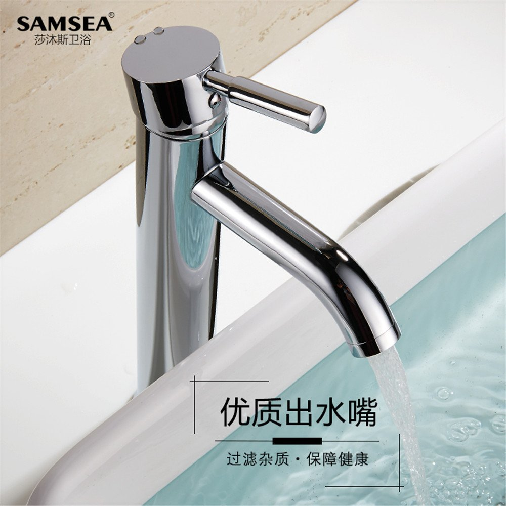 Bijjaladeva Bathroom Sink Vessel Faucet Basin Mixer Tap copper round faucet surface art vanity area with table top basin bathroom cabinet with high-extended single hole single hand