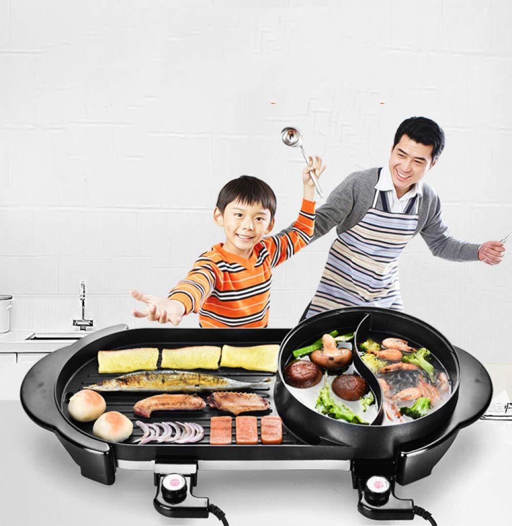 Tischgrill Balkongrill Elektrogrill Gartengrill Grill Kochtopf Shabu Hot Pot BBQ