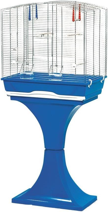 MPS Mara Jaula con pie para pájaros, 56,5 x 36,5 x 127 cm, Color Azul