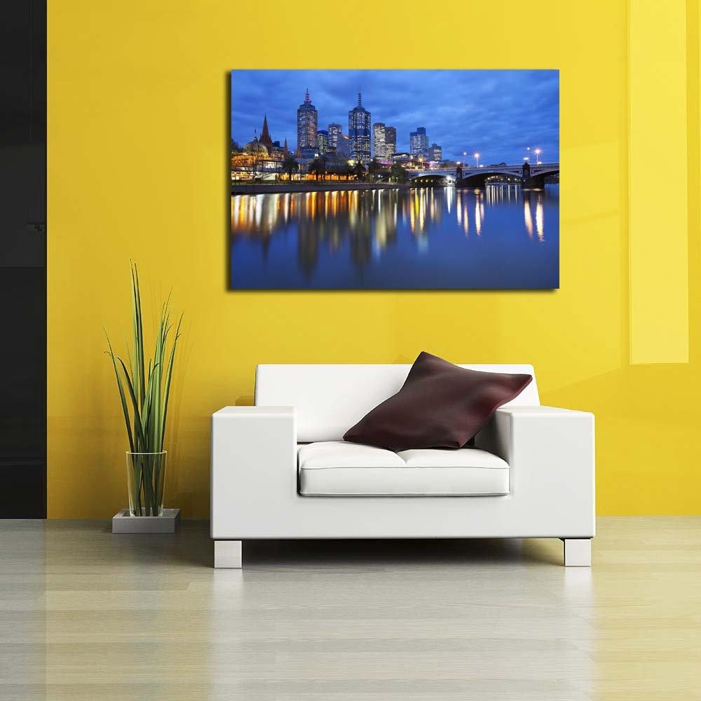 Amazon.com: PB Melbourne Skyline Across Yarra River, Australia ...
