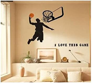 Lovely Basketball Wall Decals,sports Boys Wall Decals For Room Decor Part 26
