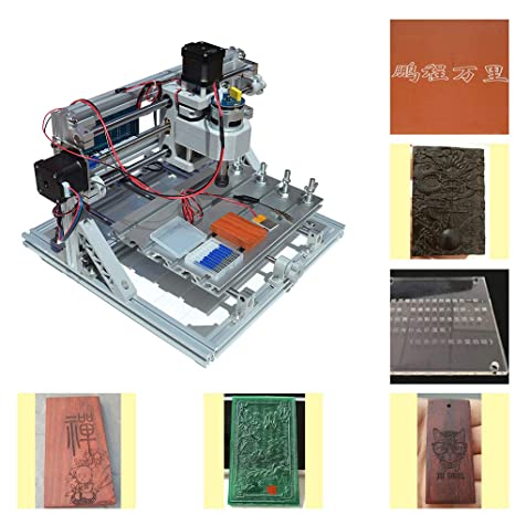 Upgrade Version CNC 2418 Router Kit GRBL Control 3 Axis Plastic Acrylic PCB  PVC Wood Carving Milling Engraving Machine, XYZ Working Area 240x180x50mm