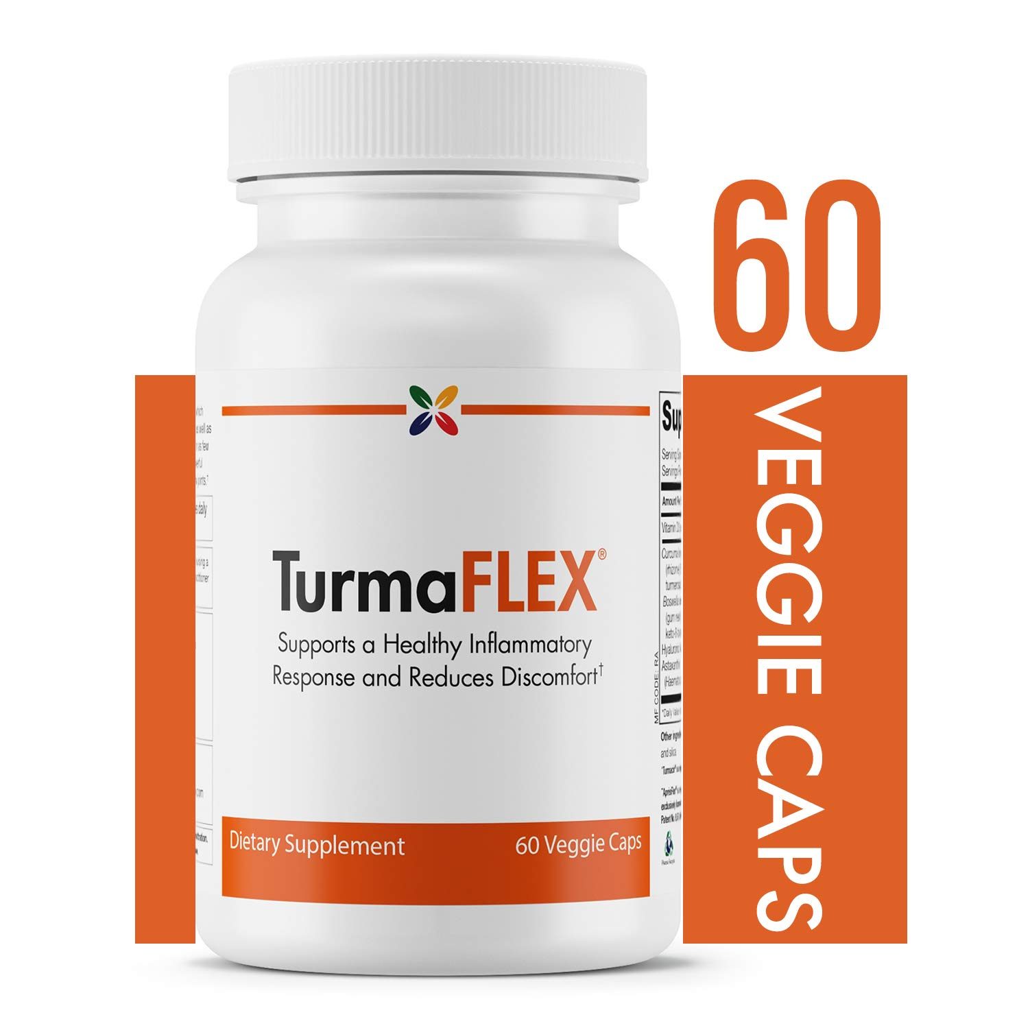 Stop Aging Now - TurmaFLEXTM Joint Formula with Turmeric (CUJWPT) - Supports a Healthy Inflammatory Response and Reduces Discomfort - 60 Veggie Caps