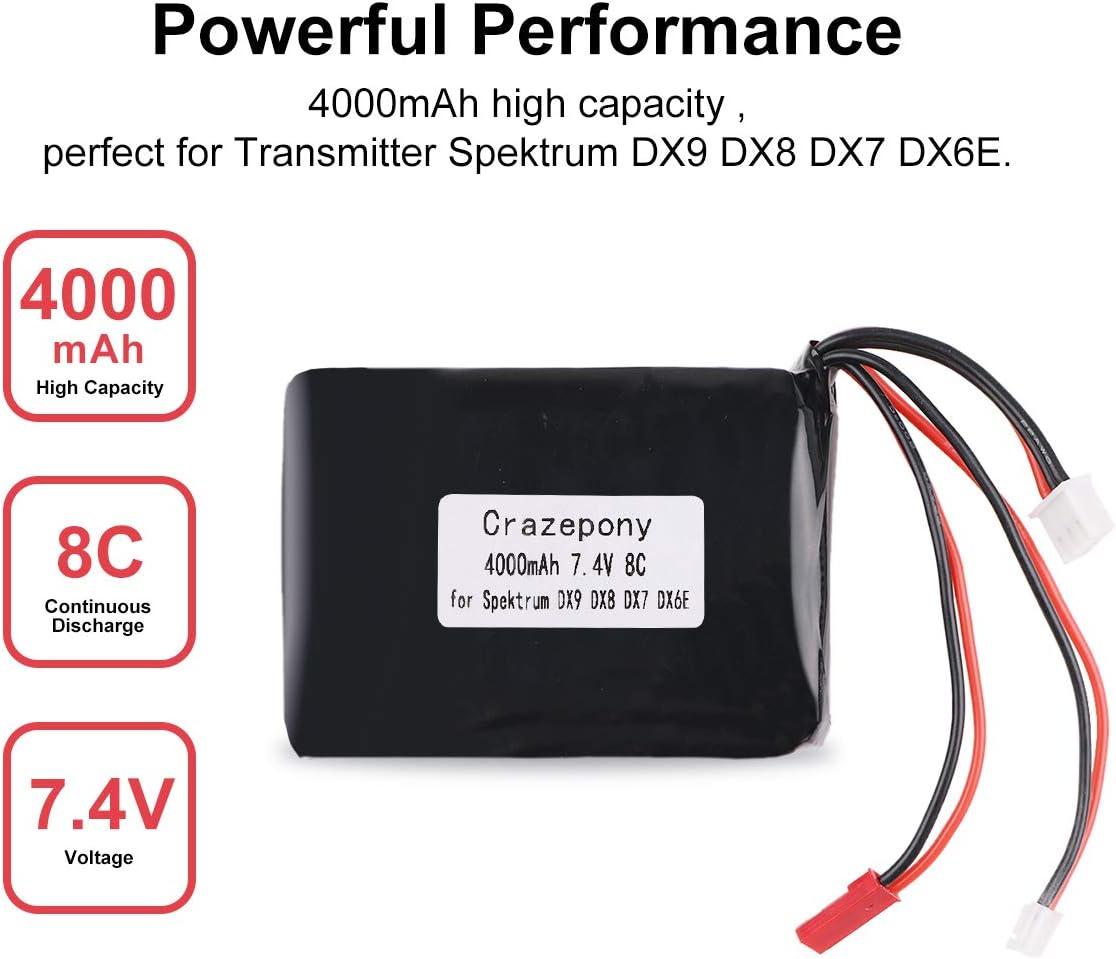 Bateria 4000mAh 2S Lipo Battery 8C/16C 7.4V JST JR plug
