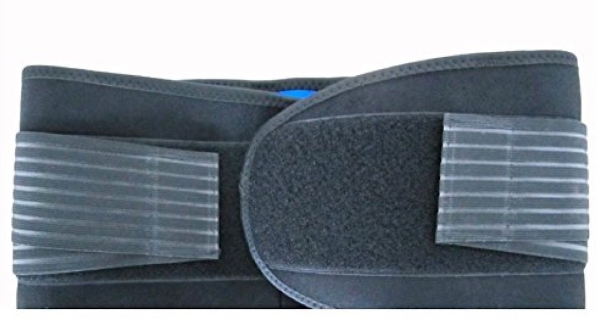 """Deluxe Neoprene Double Pull Lumbar Lower Back Support Brace Exercise Belt (5XL : (50-63""""))"""