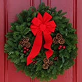 Worcester Christmas Wreath Classic 24inch Maine Balsam Garland (Small Image)