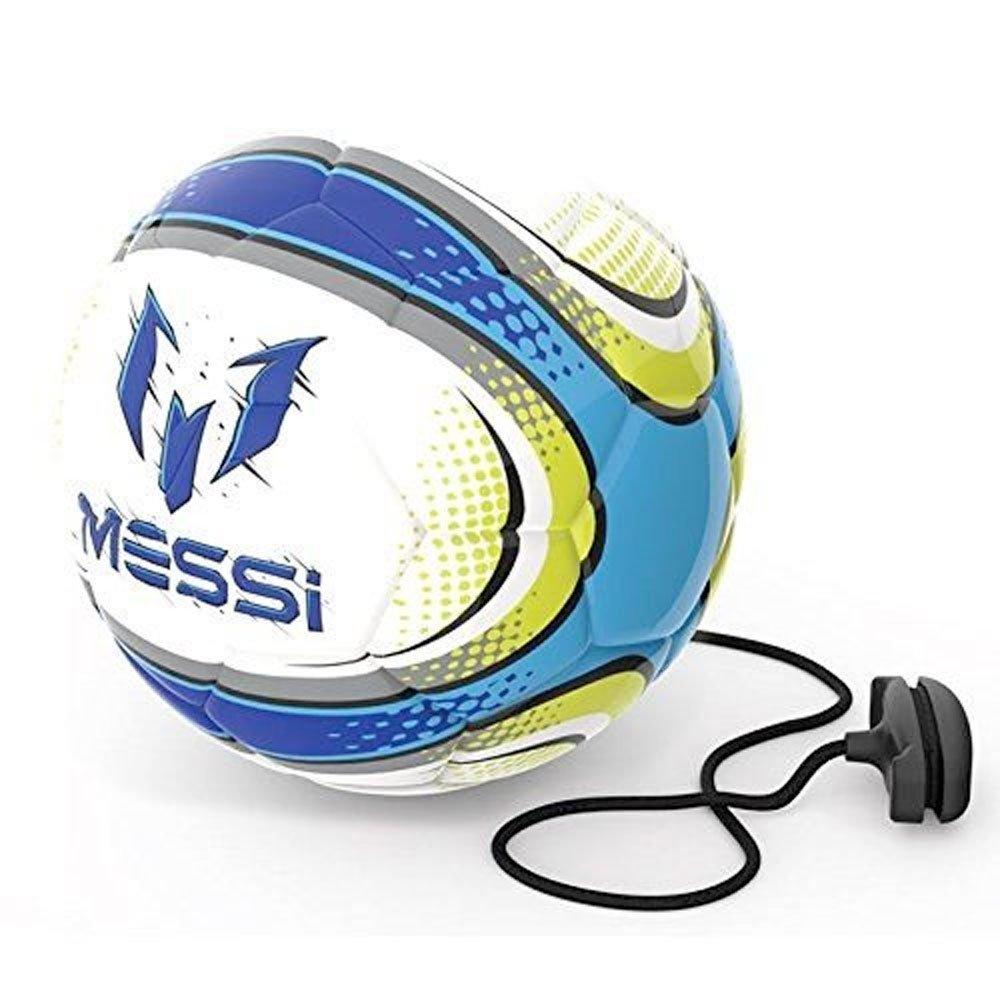 OUTDOOR Messi - Pelota de Entrenamiento 2 en 1, Tacto Suave, Color Blanco Flair Leisure Products MET14300